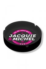 Cendrier Jacquie & Michel : Cendrier noir en céramique Jacquie & Michel.