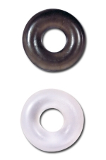 Paire de bagues d'érection Stud Ring : La noire pour la puissance, la blanche pour l'endurance, une paire de bagues d'érection extensibles à utiliser pour mieux gérer votre érection.
