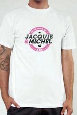 T-shirt Jacquie & Michel n°1 : Le Tee-shirt exclusif à l'effigie de  Jacquie & Michel, votre site amateur préféré.