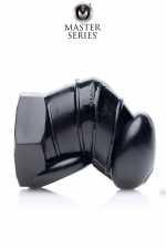 Cage de chasteté restrictive noire - Master Series : Une nouvelle version noire, plus petite et texturée à l'intérieur de la cage de chasteté souple originale de la marque Master series.