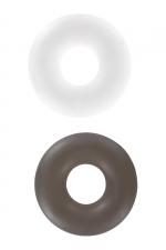 2 bagues d'érection Stud Ring : 2 cockrings Stud Rings nouvelle génération pour mieux gérer la puissance et l'endurance de vos érections, par Toy Joy.