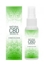 Huile de massage 50ml - Natural CBD : Huile de massage aux ingrédients naturels,  infusée au CBD, qui procure une relaxation intense et hydrate la peau.