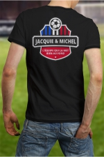 Tee-shirt  Football J&M : Soutenez l'équipe de France à votre manière en portant le Tee shirt Jacquie et Michel spécial coupe d'Europe.