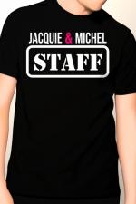 Tee-shirt Jacquie et Michel Staff : T-shirt humoristique Jacquie et Michel pour impressionner votre entourage !