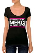 T-shirt J&M Femme n°4 : J&M pensent aussi (et surtout) aux femmes avec un nouveau tee-shirt spécifique mettant mieux en valeur leurs charmes.