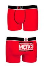 Boxer J&M en coton - rouge