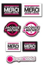 Assortiment 7 stickers J&M : Les 7 Stickers officiels Jacquie & Michel à coller où vous voulez.