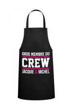 Tablier Jacquie & Michel Crew : Le tablier Jacquie & Michel Crew pour pimenter vos réceptions entre amis.