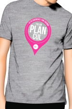 T-Shirt J&M J'ai un Plan cul - gris