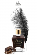 Peinture de corps Poême chocolat : Flacon de peinture corporelle comestible au parfum délicieux de chocolat, par Bijoux Indiscrets.