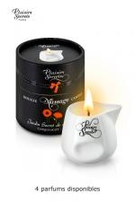 Bougie de massage Aroma : Bougie de massage sensuelle aux arômes de plantes, avec 4 délicieux parfums, par Plaisirs Secrets.