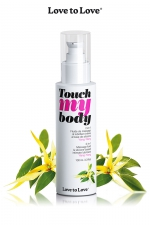 Fluide massage & lubrifiant - ylang-ylang : A la fois un fluide de massage et un lubrifiant intime parfumé à l'Ylang-Ylang, par Love to Love.