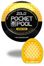 Zolo Susie Cue - Masturbateur de poche Pocket Pool �  Susie Cue de marque Zolo, avec texture  taill�e en diamant.