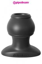 Open Wide Tunnel Plug - XL : Plug anal grande taille traversé par un tunnel, en silicone haute qualité, 6,1 cm de longueur insérable par 5 cm de diamètre maxi.