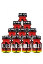 Pack 10 Poppers Adler 9 ml : Pack de 10 Flacons de 9 ml de Poppers Adler, arôme liquide érotique à base de Nitrite de Penthyl (le plus fort).