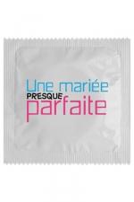 Préservatif humour - Une Mariée Presque Parfaite : Préservatif Une Mariée Presque Parfaite, un préservatif personnalisé humoristique de qualité, fabriqué en France, marque Callvin.