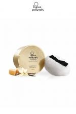 Poudre corporelle embrassable Caramel : Poudre de corps embrassable au délicieux gout de Caramel, par Bijoux Indiscrets, pour inciter désir et douce tentation.